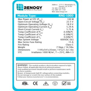 Renogy Solar Panel Review 100 Watts Monocrystalline