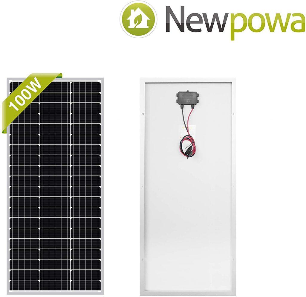New Powa 100 watt solar panel