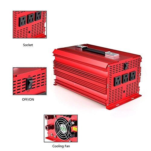 Bestek 2000W power inverter 3-AC outlets