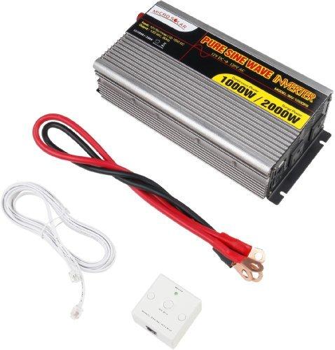 Microsolar 12V 1000W Pure Sine Wave Inverter