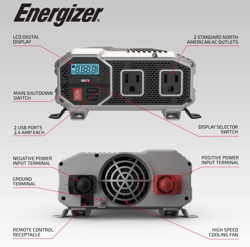Energizer 2000 Watt Power Inverter