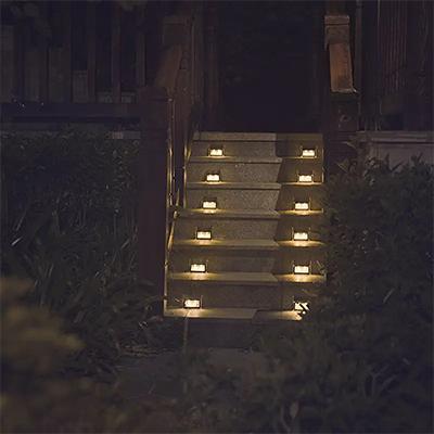 Concrete Solar Step Lights