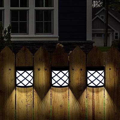 Fence side mounted solar light