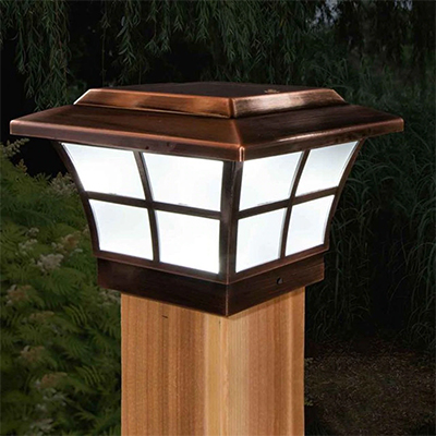 fence cap solar light