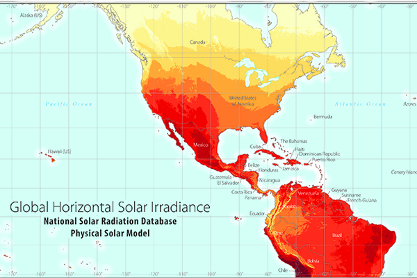 Map of Solar Irradiance