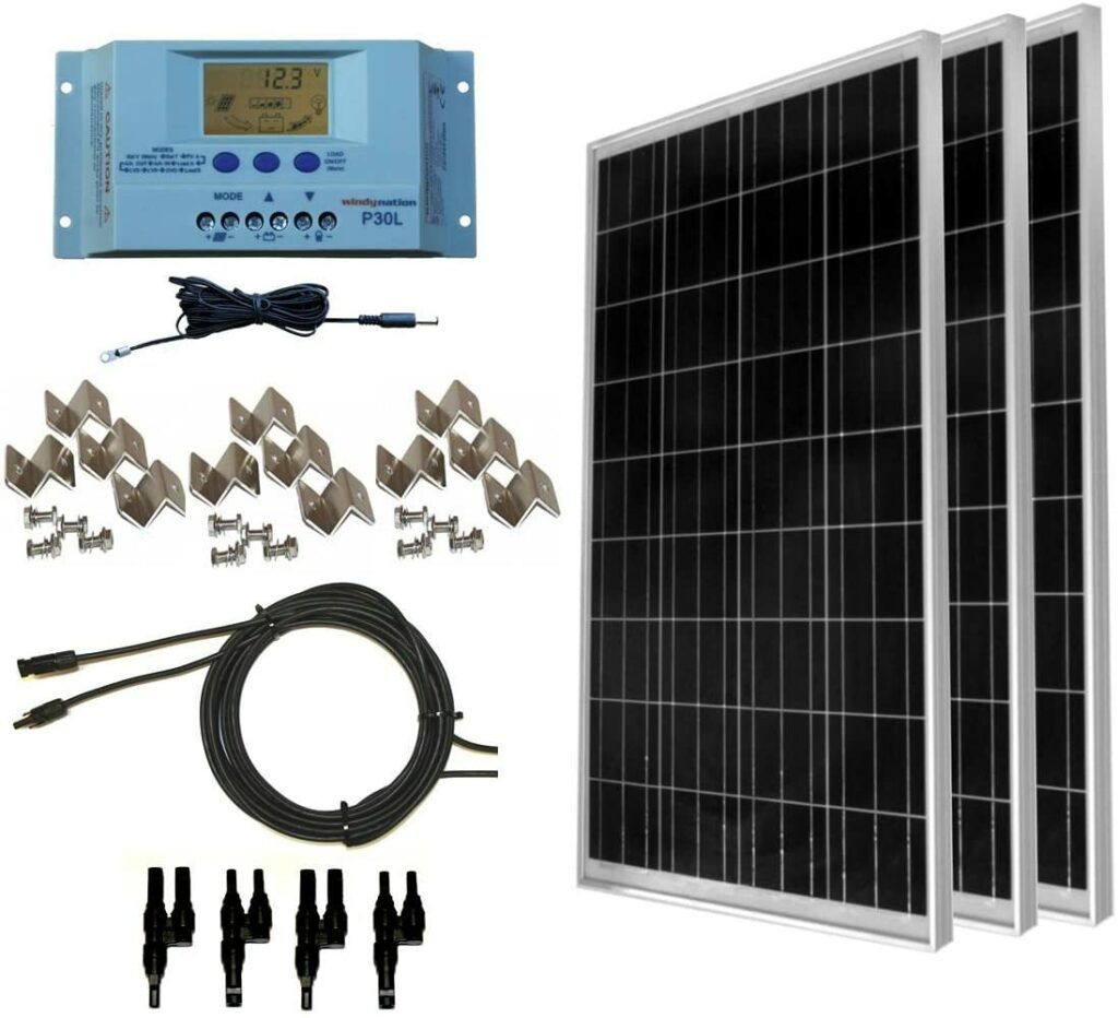 Windynation 300-watt solar panel kit