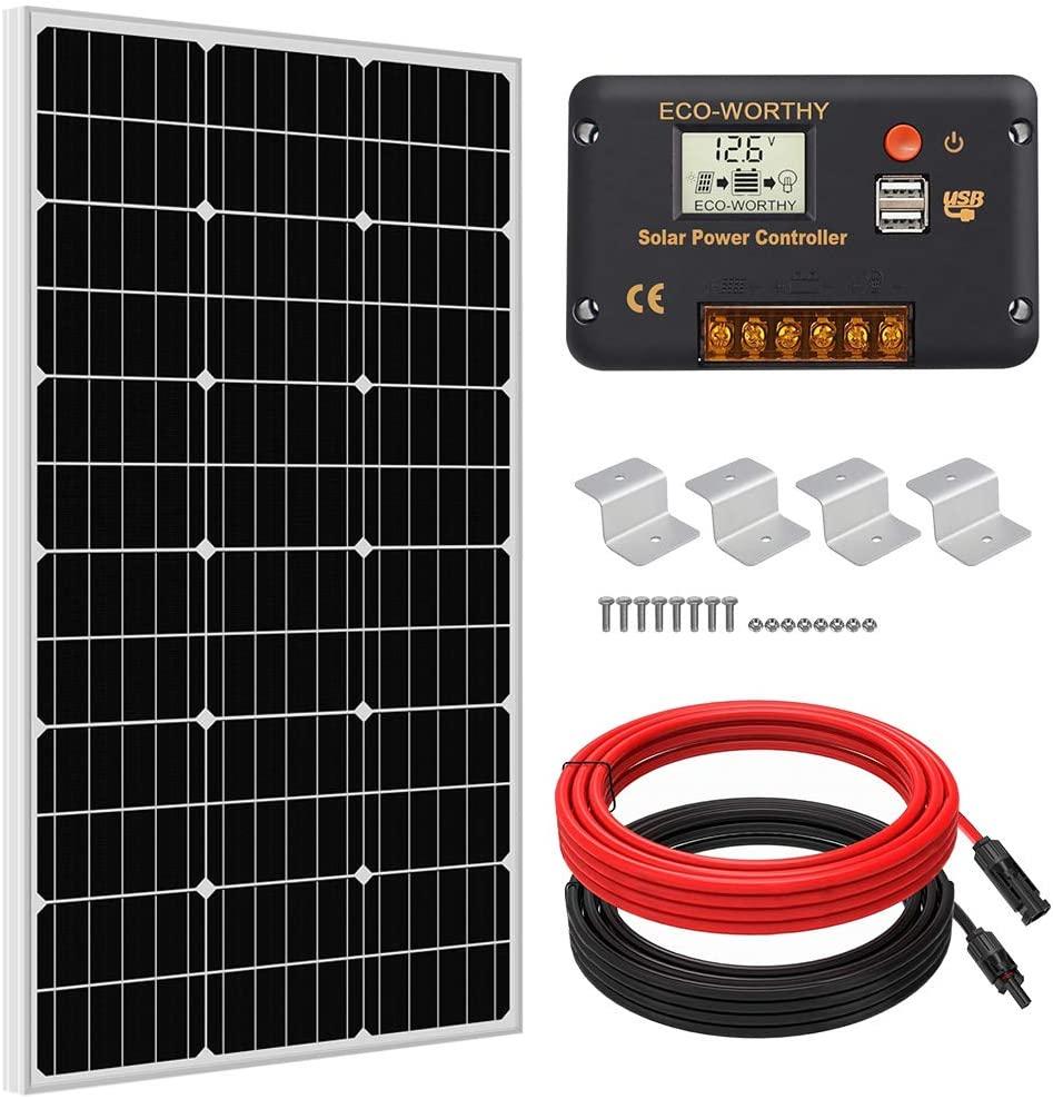 Eco-Worthy 100-Watt Solar Panel Kit