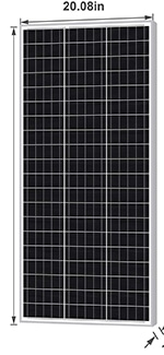 Newpowa 100 Watt solar panel